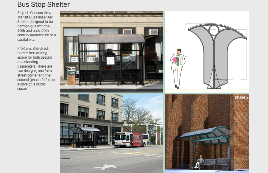 Urban Bus Stop Shelter